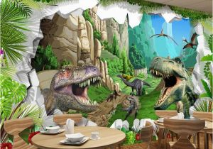 Dinosaurs Murals Walls Custom Mural Wallpaper 3d Cartoon Dinosaur Living Room Tv Background