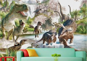 Dinosaurs Murals Walls Mural 3d Wallpaper 3d Wall Papers for Tv Backdrop Dinosaur World
