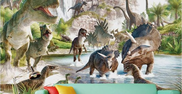 Dinosaurs Murals Walls Mural 3d Wallpaper 3d Wall Papers for Tv Backdrop Dinosaur World