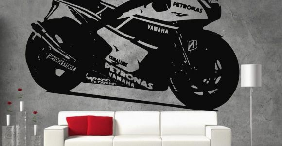 Dirt Bike Wall Murals Yamaha Petronas Moto Gp Racing Motor Bike Vinyl Sticker Wall
