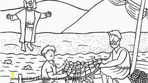 Disciples Fishing Coloring Page Jesus and the Children Coloring Pages Fish Coloring Pages for Kids