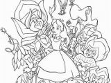 Disney Alice In Wonderland Coloring Pages Alice and Wonderland Stationary