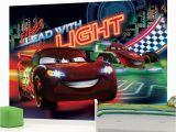 Disney Cars 2 Wall Mural Doe Het Zelf Muurposters Cars Neon Wallpaper Wall