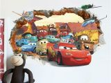 Disney Cars 2 Wall Mural Pixar Cars 2 3 Sticker Lightning Mcqueen Mater Pvc