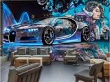 Disney Cars Murals Custom Mural Wallpaper Street Graffiti Sports Car Creative 3d