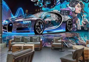 Disney Cars Murals Custom Mural Wallpaper Street Graffiti Sports Car Creative 3d
