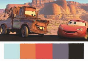 Disney Cars Murals these Disney Pixar Palettes are the Most Aesthetically Pleasing