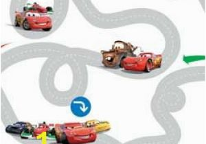 Disney Cars Race Track Mini Wall Mural Buy Disney Cars Racetrack Wallpaper Sample Multicoloured at Argos