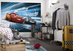 Disney Cars Race Track Mini Wall Mural Cars 3 Disney Photo Wallpaper In 2019 Boys Room