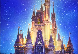 Disney Castle Mural Wallpaper Cinderella Castle ☆ Download More Disney iPhone Wallpapers at