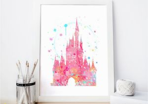 Disney Castle Wall Murals Disneyland Cinderella S Castle – Disney – Watercolor In 2019