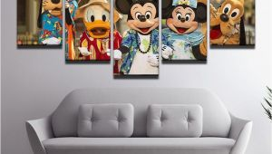 Disney Character Wall Murals Disney Characters Hawaii 5 Panel Canvas Print Wall Art In
