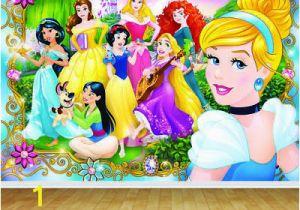 Disney Character Wall Murals Disney Princess Backdrop Wall Art Mural Wall Paper Self Adhesive Vinyl V2