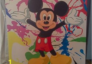 Disney Character Wall Murals Mickey Mouse Painted Canvas