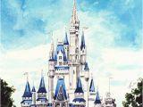 Disney Cinderella Castle Wall Mural Disney Tattoo – Cinderella S Castle Disney World – Giclee
