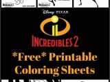 Disney Coloring Pages Incredibles 2 Free Printable Incredibles 2 Crafts Activity Sheets and