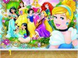 Disney Fairies Wall Mural Disney Princess Backdrop Wall Art Mural Wall Paper Self Adhesive Vinyl V2
