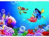 Disney Finding Nemo Wall Mural Finding Nemo Colorful Fish Wall Decal Removable Stickers