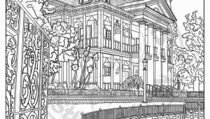 Disney Haunted Mansion Coloring Pages Disneyland Digital Adult Coloring Page Haunted Mansion