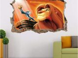 Disney Lion King Wall Murals Lion King Simba Smashed Wall Decal Graphic Wall Sticker