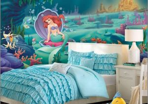 Disney Little Mermaid Wall Mural Ariel Mermaid Waterfall forter Little Mermaid Ariel theme