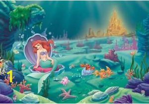 Disney Little Mermaid Wall Mural Pinterest