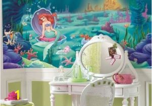 Disney Little Mermaid Wall Mural Roommates Disney Littlest Mermaid Chair Rail Prepasted Mural
