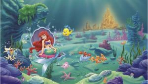 "Disney Little Mermaid Wall Mural Walt Disney Kids Ii Littlest Mermaid 10 5 L X 72"" W Wall"