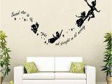 Disney Peter Pan Wall Murals Quickstick Peter Pan Wall Stickers Decal Kids Room Nursery Mural