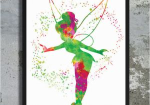 Disney Peter Pan Wall Murals Tinkerbell Watercolor Archival Art Print Poster Home Decor