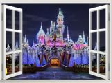 Disney Princess Castle Wall Mural 3d Ancient Princess Castle Window View Decal Wall Sticker Home Decor