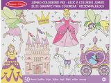 Disney Princess Giant Coloring Pages Melissa & Doug Jumbo 50 Page Kids Coloring Pad Activity Book Princess and Fairy