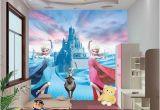 Disney Princess Wall Mural Tesco Custom 3d Elsa Frozen Cartoon Wallpaper for Walls Kids Room
