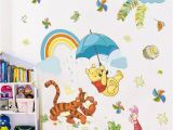 Disney Princess Wall Mural Wallpaper Cartoon Winnie Pooh Animals Wall Decals Kids Rooms Nursery Home Decor 40 60cm Disney Wall Stickers Pvc Mural Art Diy Wallpaper