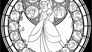Disney Stained Glass Coloring Pages Stained Glass Ariel Remastered Line Art by Akili