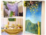 Disney Tangled Wall Mural Rapunzel Party Ideas