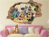 Disney Tangled Wall Mural Tangled 3d Wall Decal Disney Wall Sticker Removable Vinyl Sticker Kids Room Wall Art Children Cartoon Decor 001
