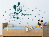 Disney Wall Mural Stickers Off Disney Mickey Mouse Personalized Name Wall Art