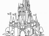 Disney World Castle Coloring Pages Castle Of Disney World Line Drawing with Images