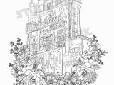 Disney World Rides Coloring Pages tower Of Terror Printable Coloring Sheet