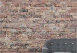 Distressed Brick Wall Mural Black and Red Aged Brick Wall Mural