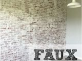 Distressed Brick Wall Mural How to Faux Brick Wall Home Ideas