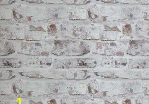 Distressed Brick Wall Mural White Brick Wallpaper Home Decor the Home Depot
