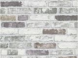 Distressed Brick Wall Mural White Grey Brick Wallpaper Paint Pinterest
