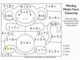Division Facts Coloring Page Monkey Maths Facts Colouring Page Homeschooling