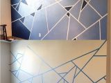 Diy Geometric Wall Mural Abstract Wall Design I Used One Roll Of Painter S Tape and