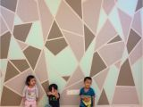 Diy Geometric Wall Mural Diy Geometric Feature Wall Final Product for This Project