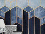 Diy Geometric Wall Mural soft Blue Hexagons Wall Mural Wallpaper Abstract