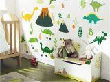Diy Photo Wall Mural 2019 New Big Stickers Dinosaur Cartoon Diy Wall Decor Kids Room Self Adhesive Waterproof Wallpaper Gift for Children Y Paper Wall Murals