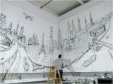 Diy Wall Mural Ideas Global City From Thomas Dartigues